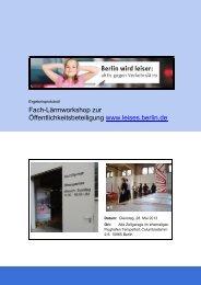 Ergebnisprotokoll Lärm-Fachworkshop - Senatsverwaltung für ...