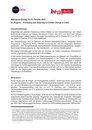 Metropolis Dialog - Senatsverwaltung für Stadtentwicklung
