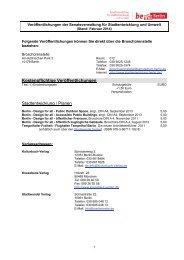 Liste der kostenpflichtigen und kostenlosen Veröffentlichungen