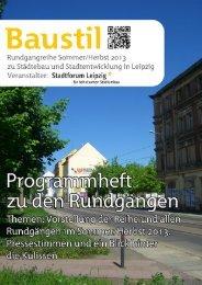 Baustil-Rundgänge: Programmheft Sommer/Herbst 2013 - Stadtforum ...