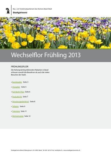 Wechselflor Frühling 2013 - Stadtgärtnerei