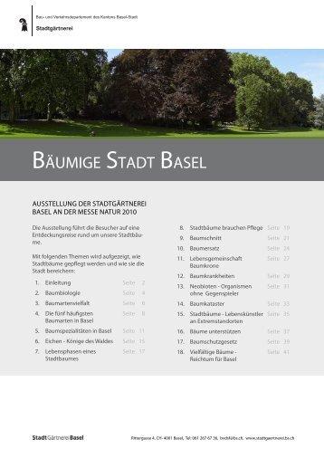 Bäumige Stadt Basel.indd 1 - Stadtgärtnerei - Kanton Basel-Stadt