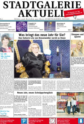 Was bringt das neue Jahr für Sie? - Stadtgalerie Passau