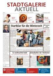 Center Zeitung - STADTGALERIE, Schweinfurt
