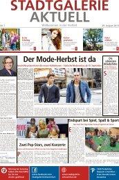 Der Mode-Herbst ist da - STADTGALERIE, Schweinfurt