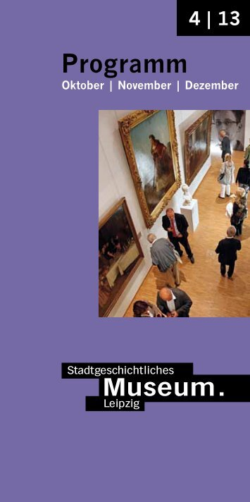 Programm - Stadtgeschichtliches Museum Leipzig