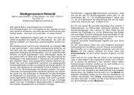 Info-Brief 09/2011 - Stadtgymnasium Detmold