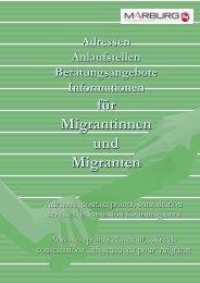 Adressen, Anlaufstellen...f-374r Migrant innen Oktober