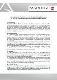 Merkblatt für Studenten