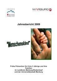 Jahresbericht 2009 (PDF) - Universitätsstadt Marburg