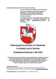 Projektbeschreibung Stadtwald, Waldtal & Wehrda