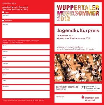 Jugendkulturpreis - Historische Stadthalle Wuppertal