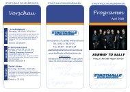 Programm Vorschau - Stadthalle Wilhelmshaven