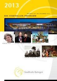 2013 - Stadthalle Balingen