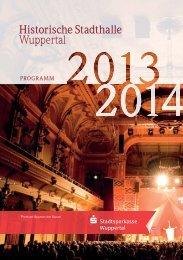 Jahresprogramm 2013/14 - Historische Stadthalle Wuppertal