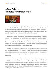 """Am Puls"" – Impulse für Erziehende - Stadtjugendring Kempten"