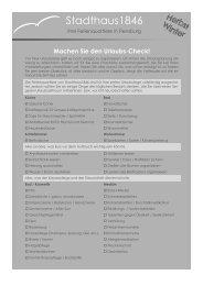 Checkliste für Urlaubsreisende Herbst/Winter - Stadthaus1846.de