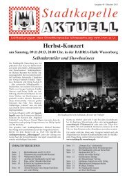 Ausgabe 45 / Okt. 2013 - Stadtkapelle Wasserburg am Inn eV