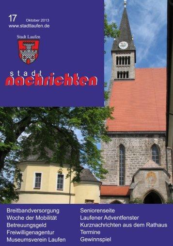 Ausgabe Oktober 2013 nachlesen - Stadt Laufen