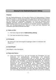 Satzung - Stadtmarketing Amberg
