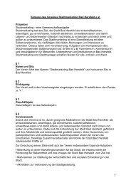 Satzung des Stadtmarketing Bad Hersfeld e. V. herunterladen