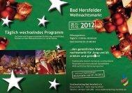 Täglich wechselndes Programm - Stadtmarketing Bad Hersfeld