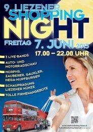 Shopping Night 2013 Infozeitg. - Stadtmarketing & Tourismus Liezen