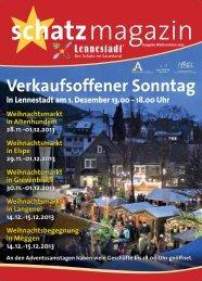 Lesen im Weihnachts-Schatzmagazin - Stadtmarketing Lennestadt