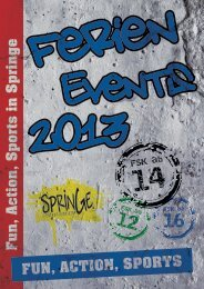 FerienEvents 2013 - Stadtmarketing Springe