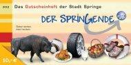 10,-€ - Stadtmarketing Springe
