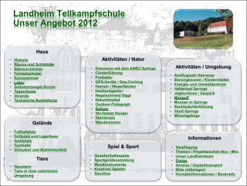 Broschüre Angebote 2012 - Stadtmarketing Springe