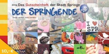 Gutscheinheft 2014 - Stadtmarketing Springe