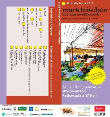 marktnischeN - Stadtmarketing Witten