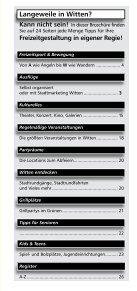 """Freizeitverzeichnis """"Und Action"""" - Stadtmarketing Witten - Seite 3"""