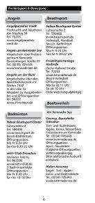 """Freizeitverzeichnis """"Und Action"""" - Stadtmarketing Witten - Seite 4"""