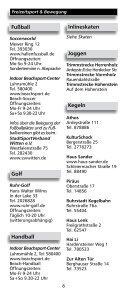 """Freizeitverzeichnis """"Und Action"""" - Stadtmarketing Witten - Seite 6"""