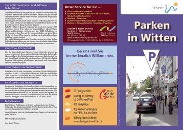 Parken in Witten Stadtmitte Übersicht - Stadtmarketing Witten