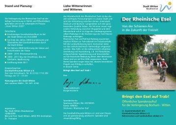 """Flyer """"Der Rheinische Esel"""" - Witten"""