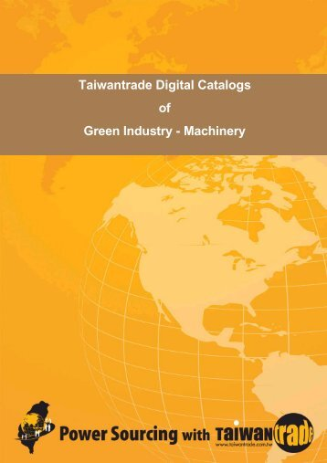 Taiwantrade Digital Catalogs of Green Industry - Machinery