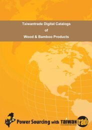 Taiwantrade Digital Catalogs of Wood & Bamboo Products
