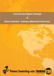 Taiwantrade Digital Catalogs of Green Industry - Industry Materials ...