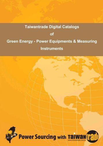 Taiwantrade Digital Catalogs of Green Energy - Power Equipments ...