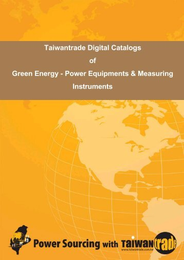 Taiwantrade Digital Catalogs of Green Energy - Power Equipments ...