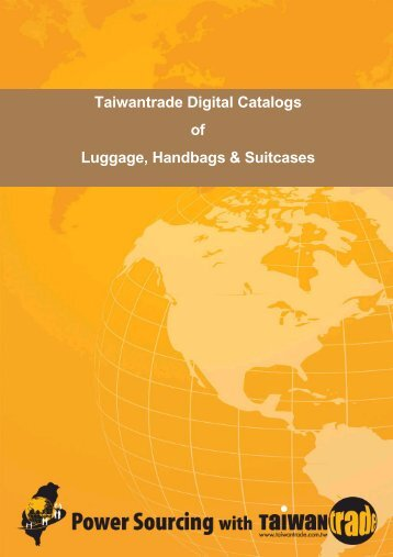 Taiwantrade Digital Catalogs of Luggage, Handbags & Suitcases