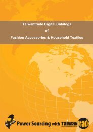 Taiwantrade Digital Catalogs of Fashion Accessories & Household ...