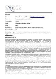 Information - University of Exeter