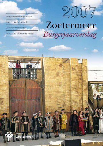 Burgerjaarverslag 2007.pdf - Gemeente Zoetermeer