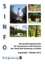 Sinfo September / Oktober - Bad-Homburg