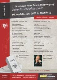 3. Hamburger Mark Banco Anlegertagung - Institut für Austrian Asset ...