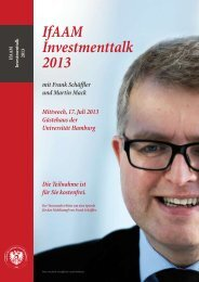 IfAAM Investmenttalk 2013 - Institut für Austrian Asset Management